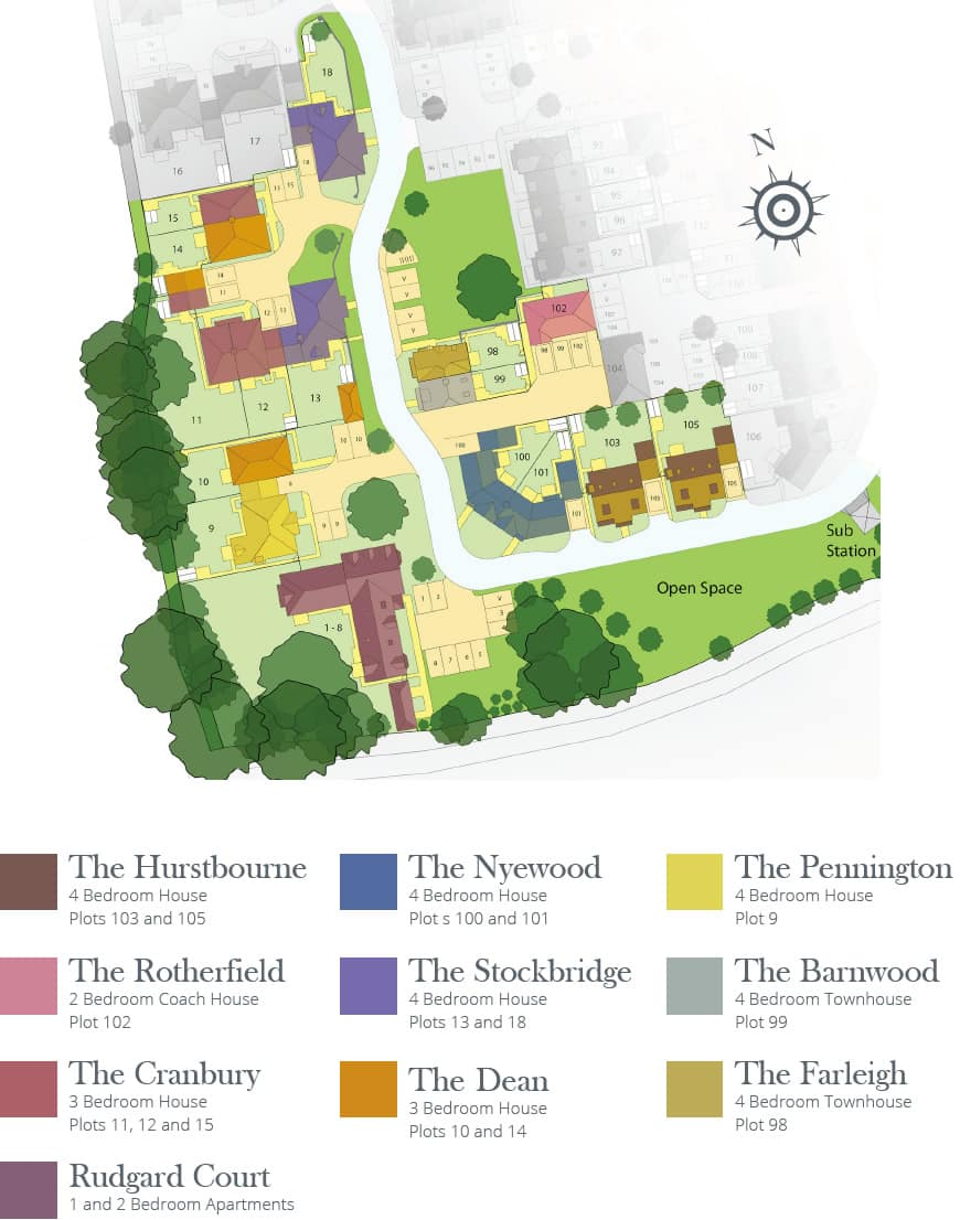 cove-homes-site-map-silent-garden-liphook-hampshire